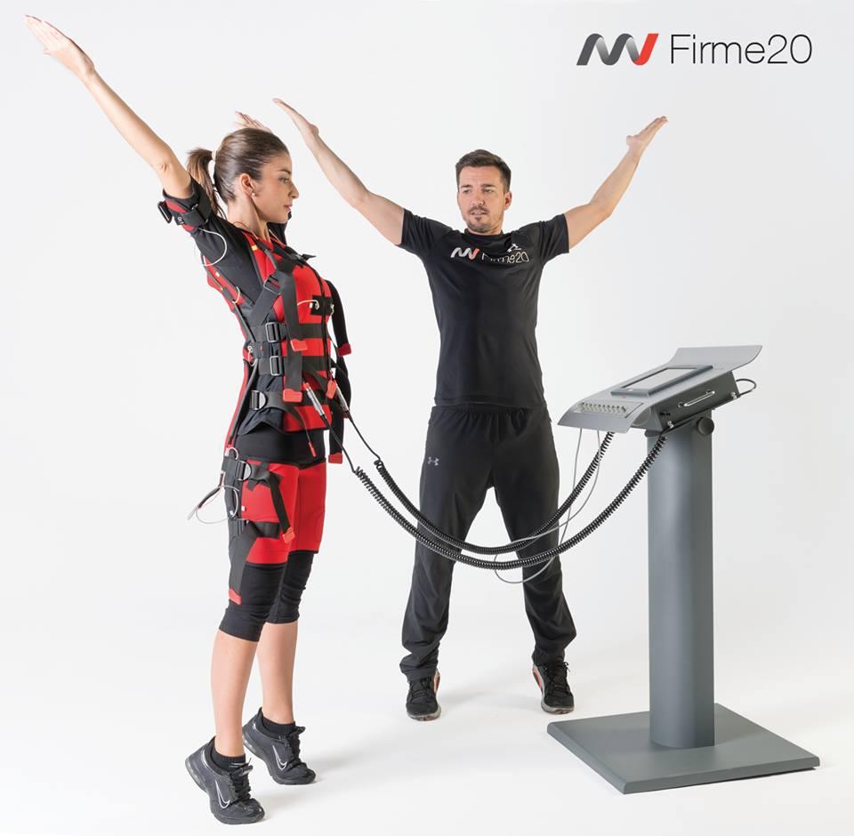 Firme20 electroestimulación muscular gimnasia